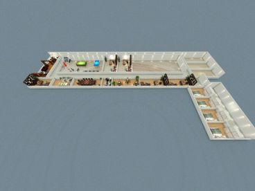 崂山厂房改造办公室520平装修案例