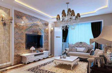 翰林紫园简欧风格半包134平住宅装潢