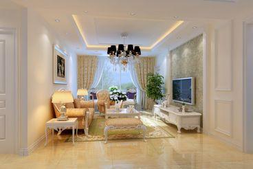 大湖山语简欧风格两居室装潢