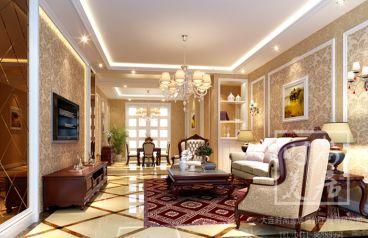 小平岛亲海园欧式古典风格半包住宅装修