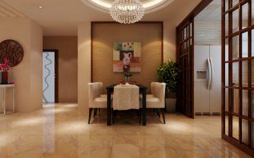 紫光绅苑新中式风格三居室全包装修