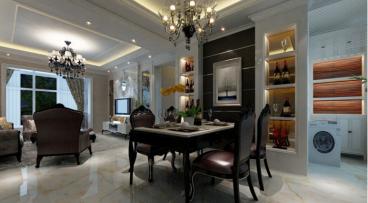 联想科技城欧式古典风格三居室装修