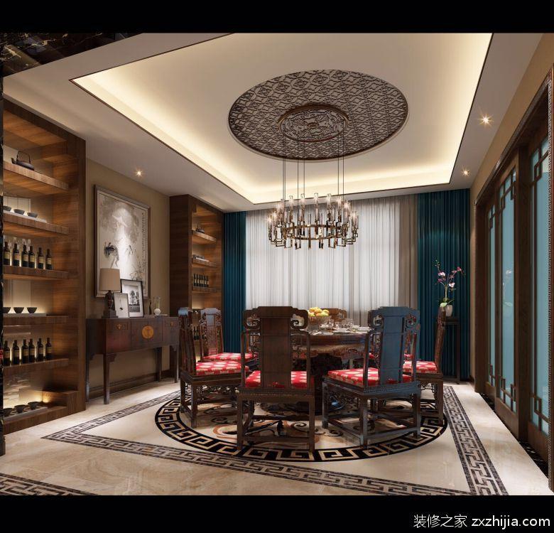银滩家园新中式风格132平装潢