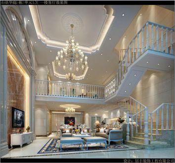 山语华庭简欧风格半包复式住宅装修