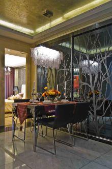 金地艺境时尚混搭风格全包家装效果图