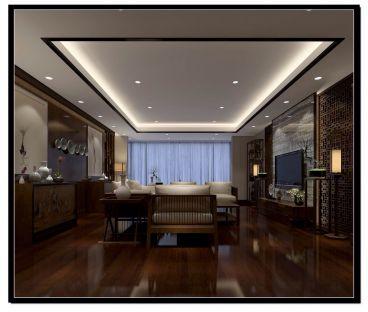 广福小区新中式风格全包180平装修