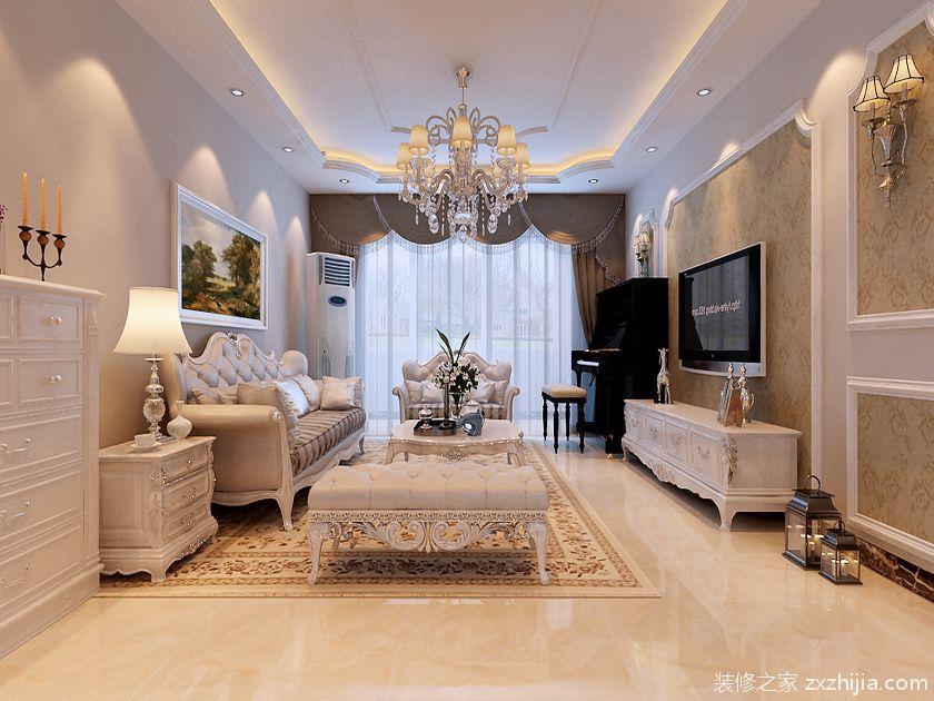 120平三居室家装  设计理念:简欧风格的室内设计打破以...