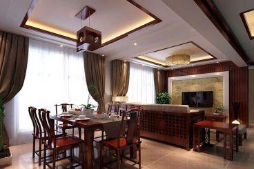 未来方舟新中式风格全包三居室装修