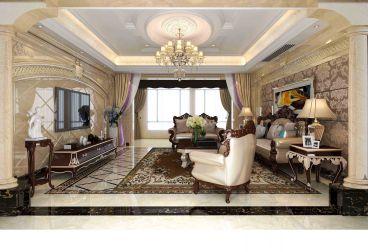 华强城欧式古典风格半包140平家装