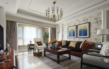 时代上城美式风格半包三居室装修