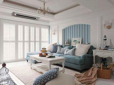 龙能家园地中海风格120平家装案例