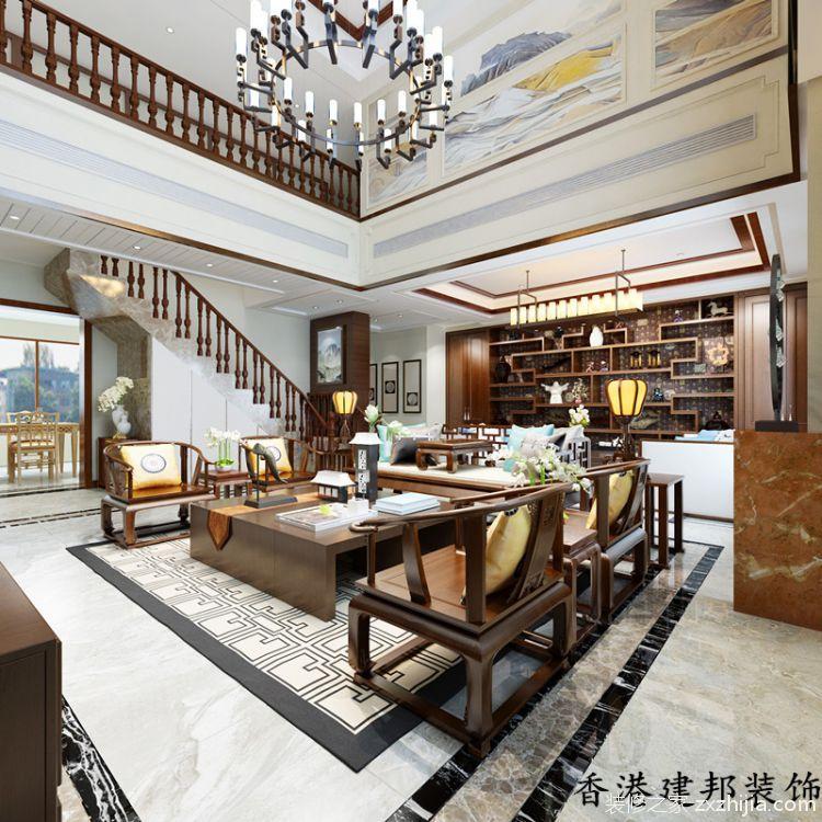 唐岛金湾新中式风格全包别墅装修