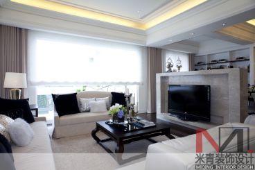 森语星园简约风格125平三居室装修