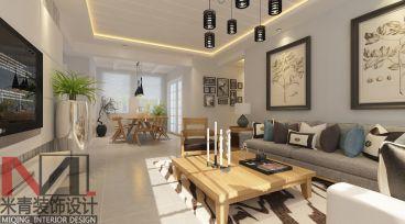 宜安小区简约风格100平半包三居室装修