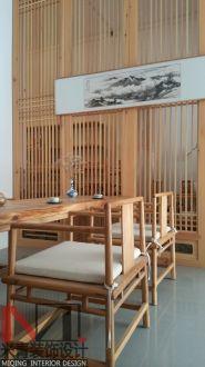 香颂公馆新中式风格半包办公室装修