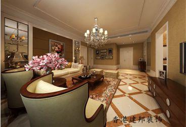 诺沙湾新中式风格三居室122平家装