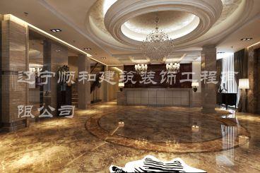 宾馆大堂欧式古典风格全包装修
