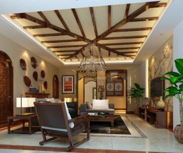 龙湖东南亚风格全包别墅装修案例