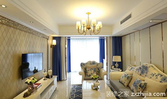 永旭金色阳光欧式古典风格全包120平装修