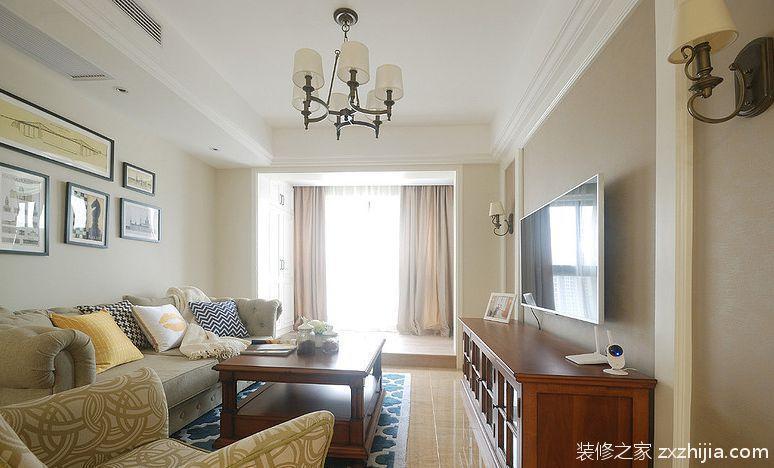 万科悦峰美式风格90平住宅装修案例