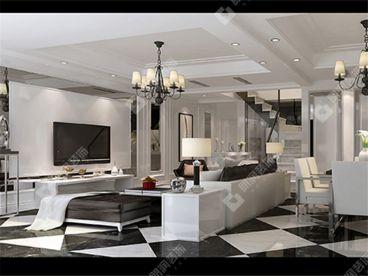 凯德风尚--现代风格三居室装修案例
