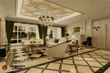 国赫红珊湾欧式古典风格全包三居室装修