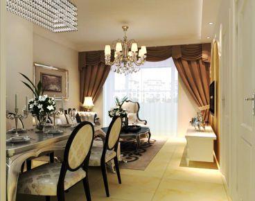 福美国际简约风格全包三居室装修