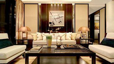 善水湾新中式风格全包三居室装修