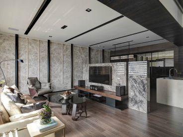 台北大直简约风格全包三居室装修