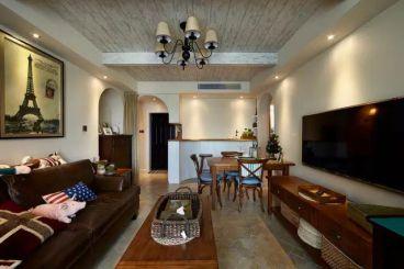 顶秀家园地中海风格半包95平装修