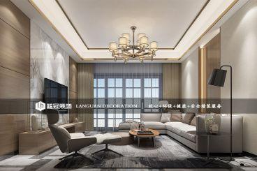 月彩苑简约风格130平半包三居室装修