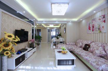 江岸水城简约风格半包三居室家装效果图