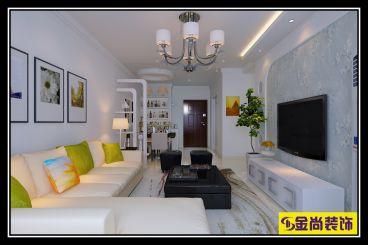 华山珑城简约风格88平两居室装修