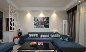 颐安都会中央93㎡三居室装修效果图