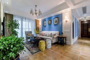 星河时代美式风格180平四居室样板间装修