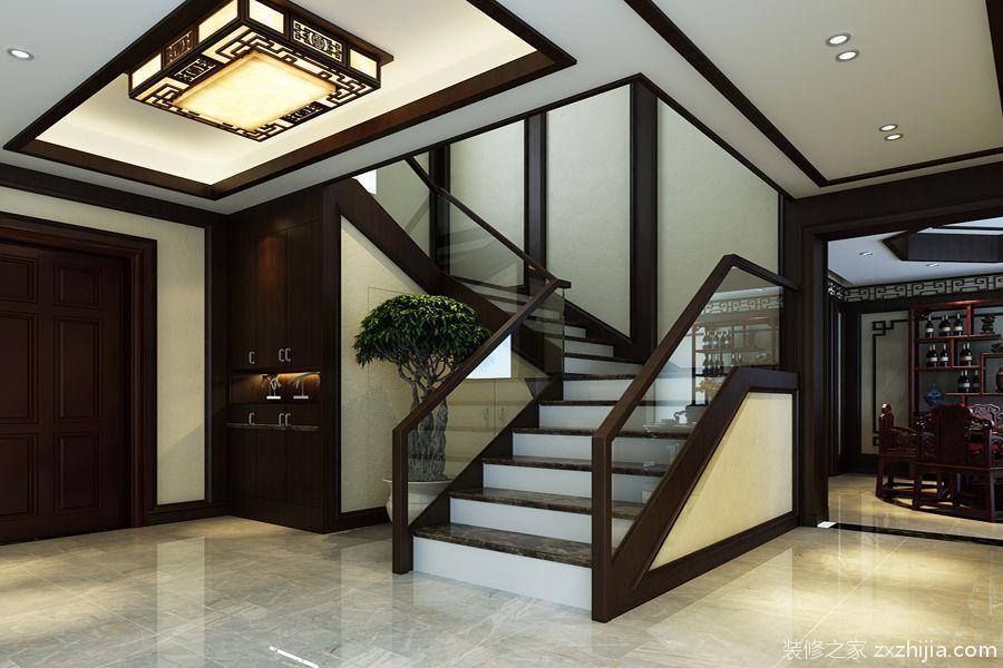 中院小区中式280平家装效果图_装修案例图_济南装修之