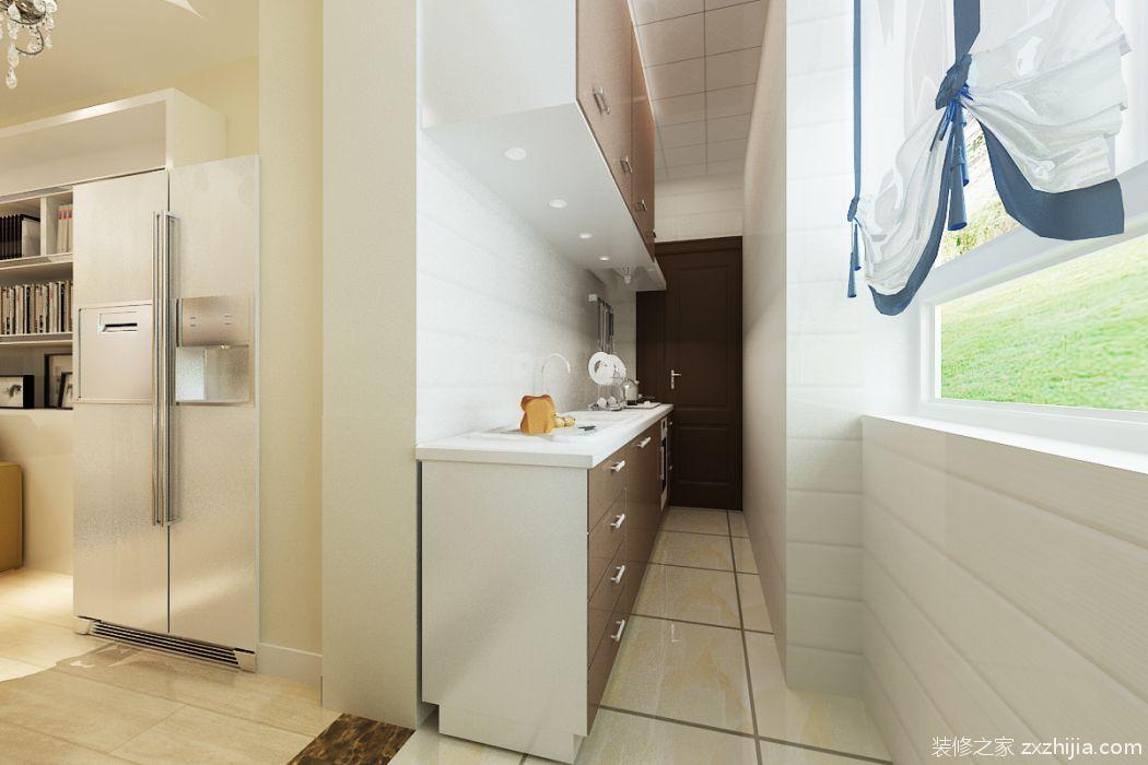珠江帝景56平二室一厅现代简约装修效果图
