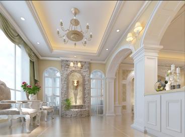 普罗旺斯美式风格复式住宅全包装修