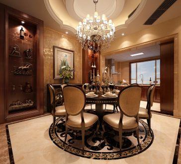 大唐花苑别墅400平新中式风格家装案例