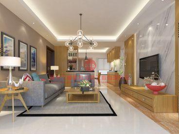 凯云新世界120平两居室装修效果图