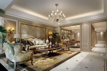 万达公馆欧式古典风格130平家装案例