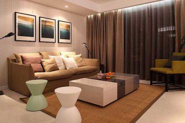 中海铂宫80平二室二厅现代简约装修效果图