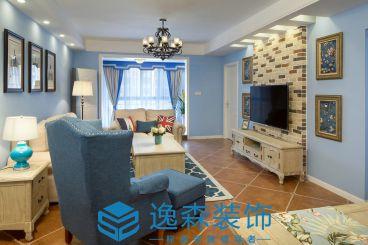 新澳阳光城98平三室二厅美式装修效果图