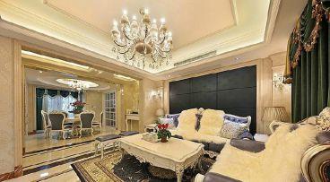 天安尚城142平三室二厅简欧装修效果图