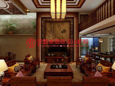 融科瀚棠260平三室二厅新古典装修效果图