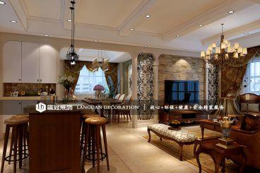 万家星城122平三室二厅美式装修效果图