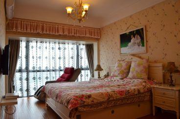 南华花园93平三室二厅恬淡田园装修效果图