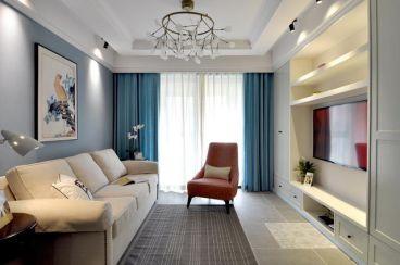 汉口湖畔89平二室二厅现代简约装修效果图