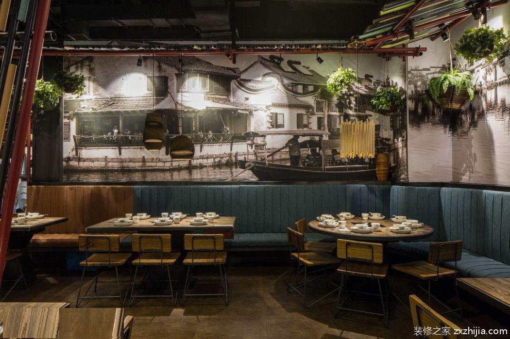 饭店装修245平欧式古典装修效果图