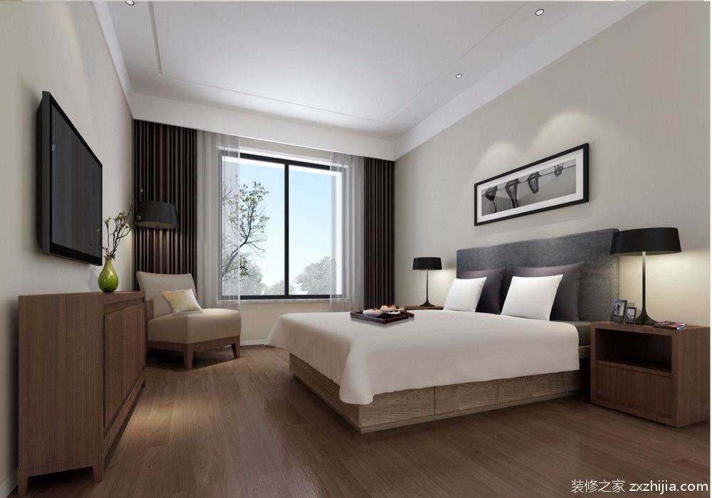 地板和柜子都是深棕色,线条非常的明快,看起来整洁而优雅,尽显欧式的图片